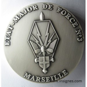 EMF 3 Etat-Major de Force Marseille Médaille de table 70 mm