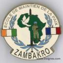COTE d'IVOIRE Ecole de maintien de la Paix ZAMBAKRO