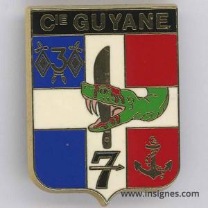 3° Régiment de Cuirassiers cie GUYANE