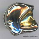 Casque F 1 Pin's Visiére dorée