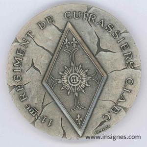11° Régiment de Cuirassiers CIABC Médaille de table