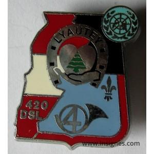 4° Régiment de Chasseurs LYAUTEY 420° DSL Liban