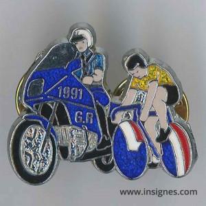 Gendarmerie Tour de France 1992 translucide jaune