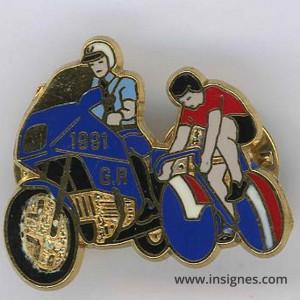 Pin's Garde Républicaine Tour de France 1992 rouge