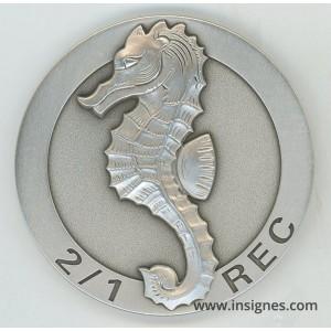 1° REC 2° Escadron Médaille de table 65 mm