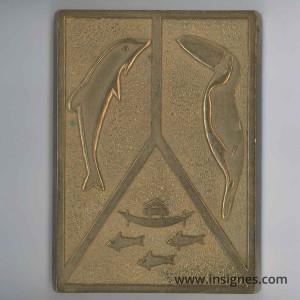 Plaque bronze Forces Armées Guyane