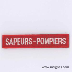 Tissu Bande Patronymique SAPEURS POMPIERS