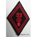 Tissu 99° Régiment d'Infanterie losange 45 troupe