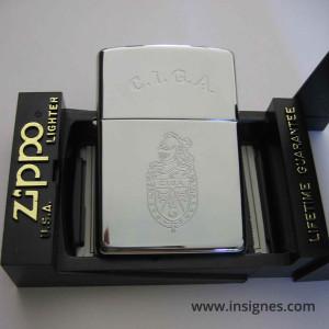Gendarmerie CIGA (tout argenté) Zippo