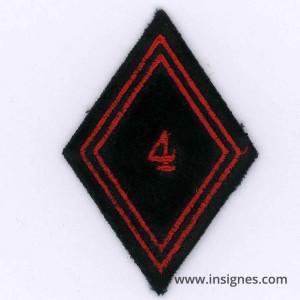 Tissu Losange 45 4° Régiment du Génie troupe
