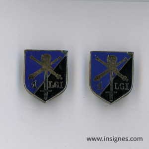ECU 1° Légion de Gendarmerie d'Intervention LGI Allemagne 1946 Lot de 2