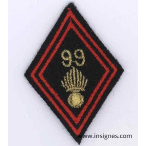 Tissu Losange 45 99° Régiment d'Infanterie tissu Cadres