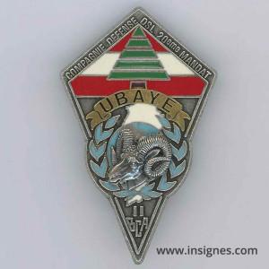 11° BCA FINUL Cie Défense 20° Mandat Ubaye 420 DSL LIBAN