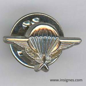 Brevet Parachutiste argenté brillant en pin's