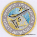 FORCES AERIENNES SECURITE INTERVENTION Tissu Patch Variante couleurs