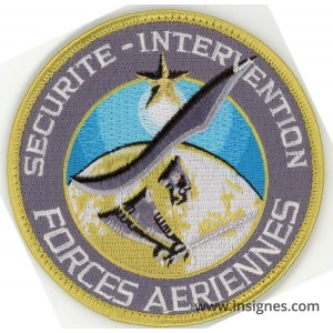 FORCES AERIENNES SECURITE INTERVENTION Patch Tissu