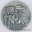 Sapeurs Pompiers Médaille de table 65 mm