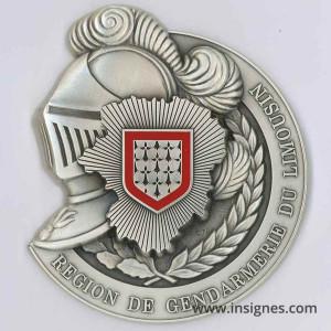 Région de Gendarmerie du Limousin Médaille de table 77 mm