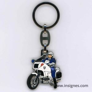 Porte-Clefs Gendarmerie Motard (moto blanche)
