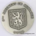 2) r2GIMENT DE hUSSARDS RBRR Médaille de table 65 mm