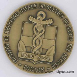 Instutut de Médecine Navale Santé TOULON Médaille de table 68 mm