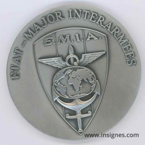 EMIA Etat-Major InterArmes médaille de table 70 mm