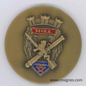 54° Régiment d'Artillerie Médaille de table Diamètre 65 mm