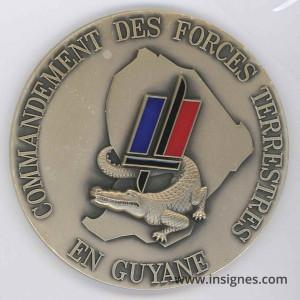 Commandement des Forces Terrestres en GUYANE Fond de coupelle 70 mm