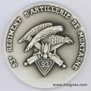 93° Régiment d'Artillerie de Montagne RAM Médaille de table