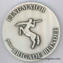7° BRIGADE BLINDEE Etat-Major Médaille de table 70 mm