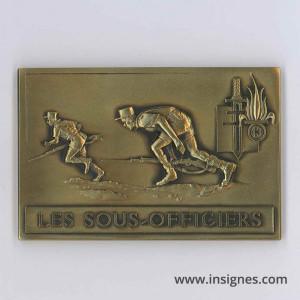 13° DBLE Les Sous-Officiers Plaque bronze
