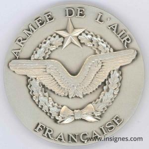 Armée de l'Air Française Médaille de table 65 mm