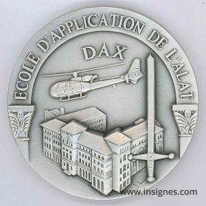 Ecole d'Application de l'ALAT DAX (gazelle) Médaille 65 mm