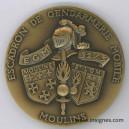 Escadron de Gendarmerie Mobile 32/5 MOULIN Médaille de table 65 mm