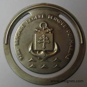 9° Brigade Légére Blindée d'Infanterie de Marine BLBIMA Marque-Page 40 mm