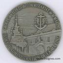 Ecole de l'Administration de la Marine Fond de coupelle argenté 70 mm