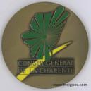 Conseil Général de La CHARENTE Médaille de table 105 mm