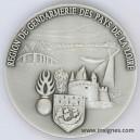 Région de Gendarmerie des Pays de LOIRE Médaille de table