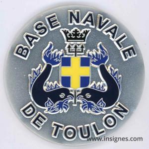 Base Navale TOULON Médaille de table 65 mm