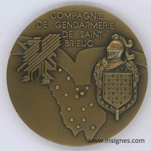 Compagnie de Gendarmerie de Saint-Brieux Médaille de table