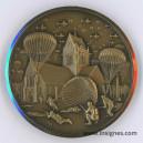 Débarquement 6 juin 44 Parachutistes Ste Mere l'Eglise Médaille Musée