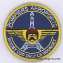 Sapeurs Pompiers Aéroport Roissy Orly Le Bourget Tissu H: 8,5 cm