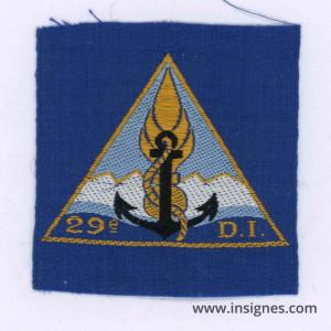 29° Division d'Infanterie Insigne Tissu