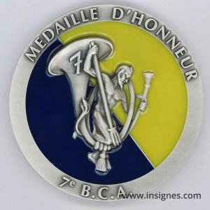 7° BCA Médaille de table 68 mm