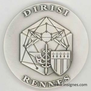 DIRISI RENNES Médaille de table 65 mm
