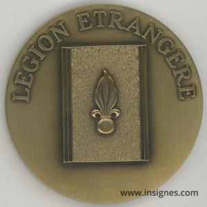 1° RE Médaille de table Légion Étrangère 68 mm
