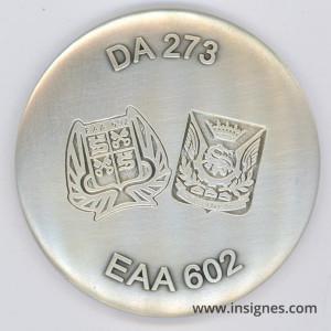 Détachement AIR 273 EAA 602 Médaille de table 65 mm ROMORANTIN