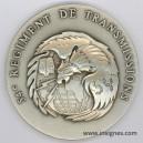 54° Régiment de Transmissions Médaille de table 65 mm (argentée)