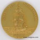 Marine oblige ACORAM Association des Officiers de Réserve Médaille 50 mm dorée