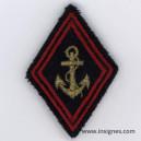 Losange modèle 45 TDM Troupes de Marine Ancre dorée Tissu